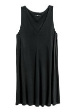 V-neck jersey dress - Black - Ladies | H&M CN 2