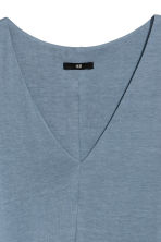 V-neck jersey dress - Blue-grey - Ladies | H&M CN 3