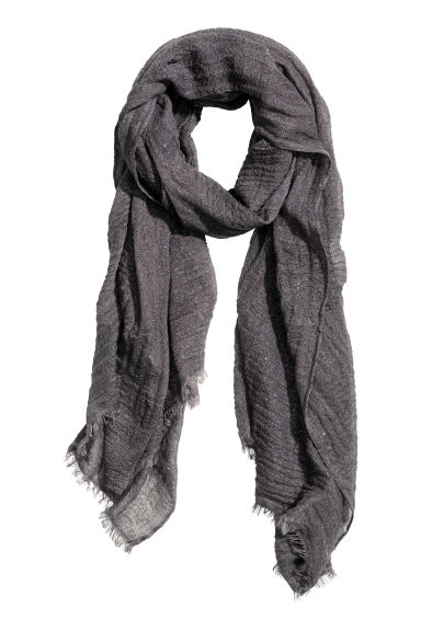 Glittery scarf - Dark grey - Ladies | H&M CN 1