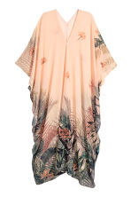 Chiffon kaftan - Powder/Palm leaf - Ladies | H&M CN 1