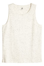 Vest top - Natural white/Neps - Men | H&M 2