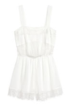 Chiffon playsuit with lace - White - Ladies | H&M CN 2
