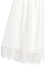 Chiffon playsuit with lace - White - Ladies | H&M 4