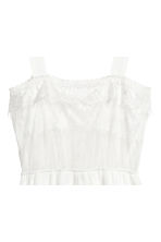 Chiffon playsuit with lace - White - Ladies | H&M 3