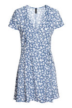 Patterned wrap dress - Pigeon blue - Ladies | H&M 2