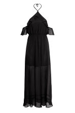 Long chiffon dress - Black - Ladies | H&M CA 2