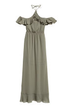 Long chiffon dress - Khaki green - Ladies | H&M 2