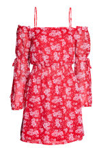 Off-the-shoulder dress - Red/Floral - Ladies | H&M 2