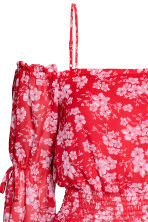 露肩洋裝 - Red/Floral - Ladies | H&M 3