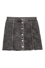 A-line skirt - Dark grey washed out -  | H&M CN 2