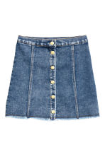 A-line skirt - Blue washed out -  | H&M CN 2