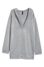 Knitted hooded jumper - Grey - Ladies | H&M CN 2