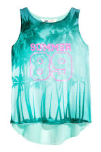 Double-layered vest top - Mint green/Palms -  | H&M CA 2