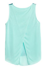 Double-layered vest top - Mint green/Palms -  | H&M CA 3