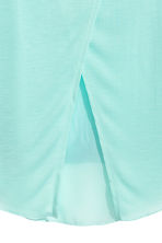 Double-layered vest top - Mint green/Palms -  | H&M CA 4