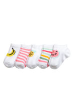 5-pack trainer socks - White/Fruit -  | H&M CA 2
