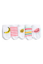 5-pack trainer socks - White/Fruit -  | H&M CA 1