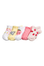 5-pack trainer socks - Powder pink/Strawberries - Kids | H&M 1