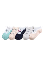 5-pack trainer socks - Powder pink - Kids | H&M CN 1