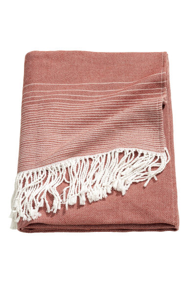 Striped blanket - Rust - Home All | H&M CN 1