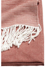 Striped blanket - Rust - Home All | H&M CN 2