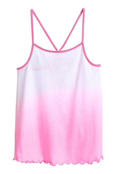 Top en jersey - Blanc/rose -  | H&M FR 1