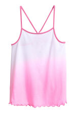 Jersey strappy top - White/Pink -  | H&M 1