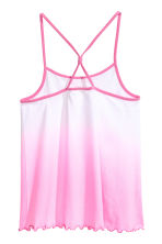 Jersey strappy top - White/Pink -  | H&M 2