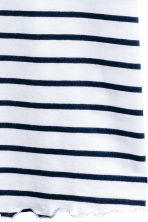 Jersey strappy top - White/Dark blue/Striped -  | H&M 3