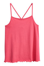 Jersey strappy top - Raspberry pink -  | H&M 2