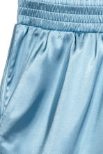 Satin shorts - Light blue - Ladies | H&M CN 2
