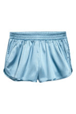 Shorts in satin - Azzurro - DONNA | H&M IT 1