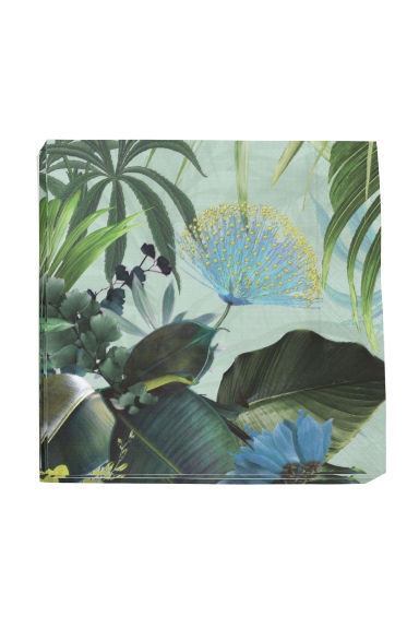 Paper napkins - Mint green/Floral - Home All | H&M CN 1