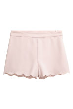 Shorts with scalloped edges - Powder - Ladies | H&M CN 2
