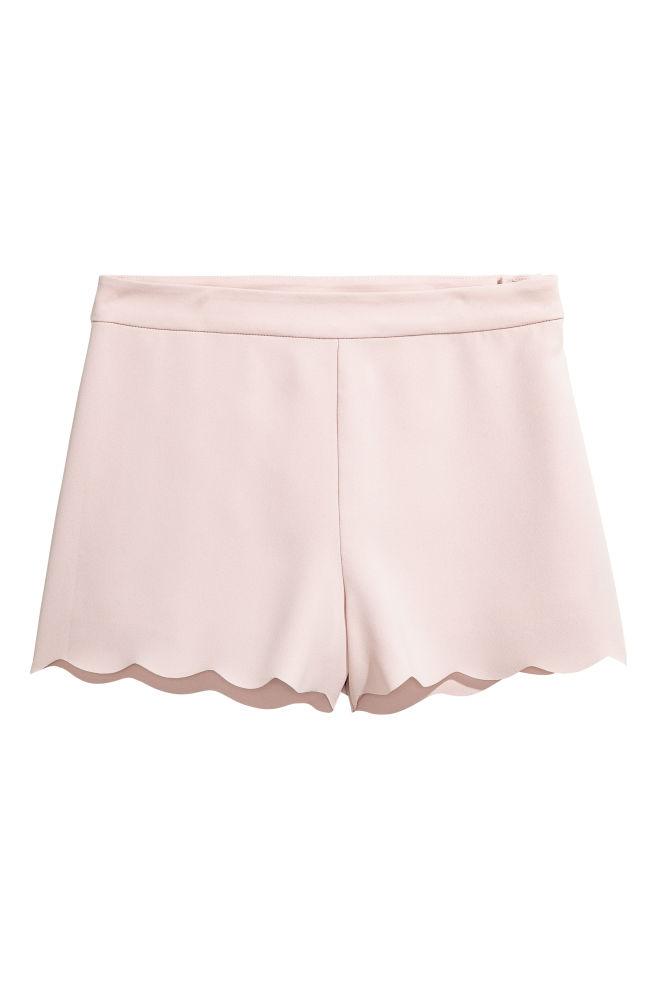 Short avec bord festonné - Poudre - FEMME | H&M FR 2