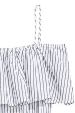 Off-the-shoulder jumpsuit - White/Striped - Ladies | H&M CN 3