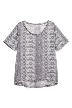 Top in chiffon - Grigio/fantasia - DONNA | H&M IT 2