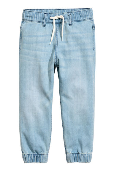 Denim joggers - Light denim blue - Kids | H&M 1
