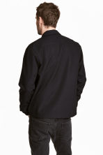Wool-blend shirt jacket - Black - Men | H&M 4