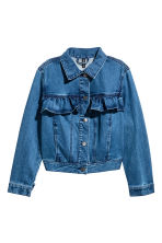 Flounced denim jacket - Denim blue - Ladies | H&M 2