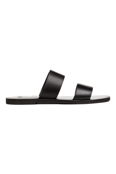 Leather mules - Black - Ladies | H&M 1