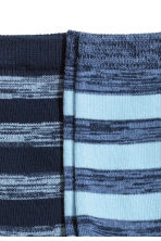 2-pack socks - Blue/Striped - Kids | H&M 2