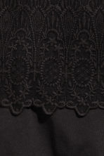 Lace top - Black -  | H&M 3