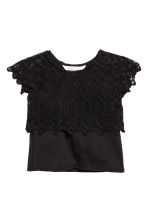 Kanten top - Zwart -  | H&M BE 2