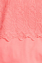 Lace top - Light coral -  | H&M 3