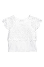 Lace top - White -  | H&M 2