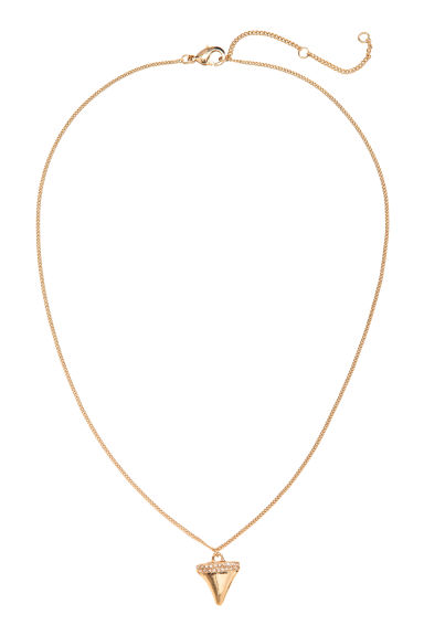 Necklace with a pendant - Gold -  | H&M CA 1