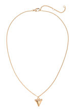 Necklace with a pendant - Gold -  | H&M CN 1