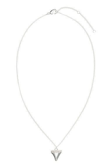 Necklace with a pendant - Silver -  | H&M