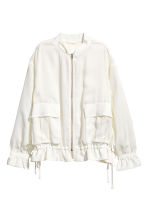 Satin bomber jacket - White - Ladies | H&M 2